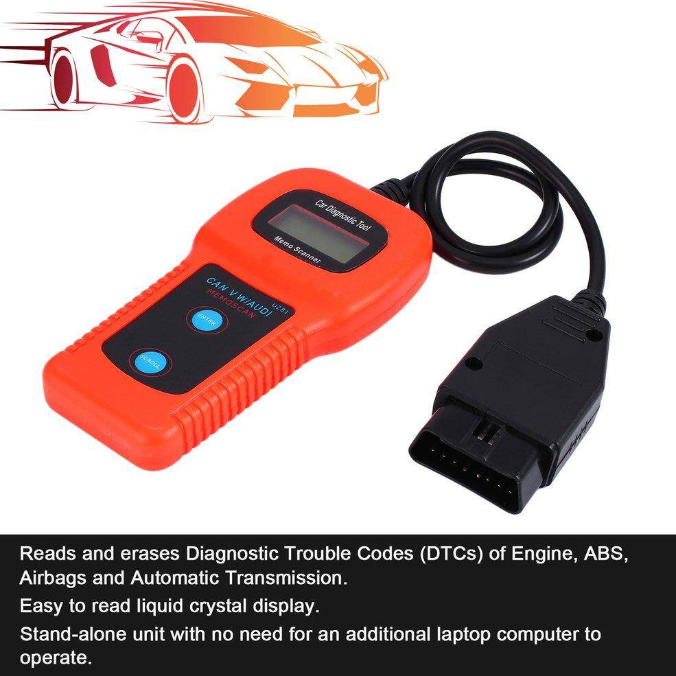 OBD2 OBDII Memo Scanner U281 Car Engine Diagnostic Tool CAN BUS Code  Scanner Airbag ABS Reset Tool Reading and Erasing Trouble