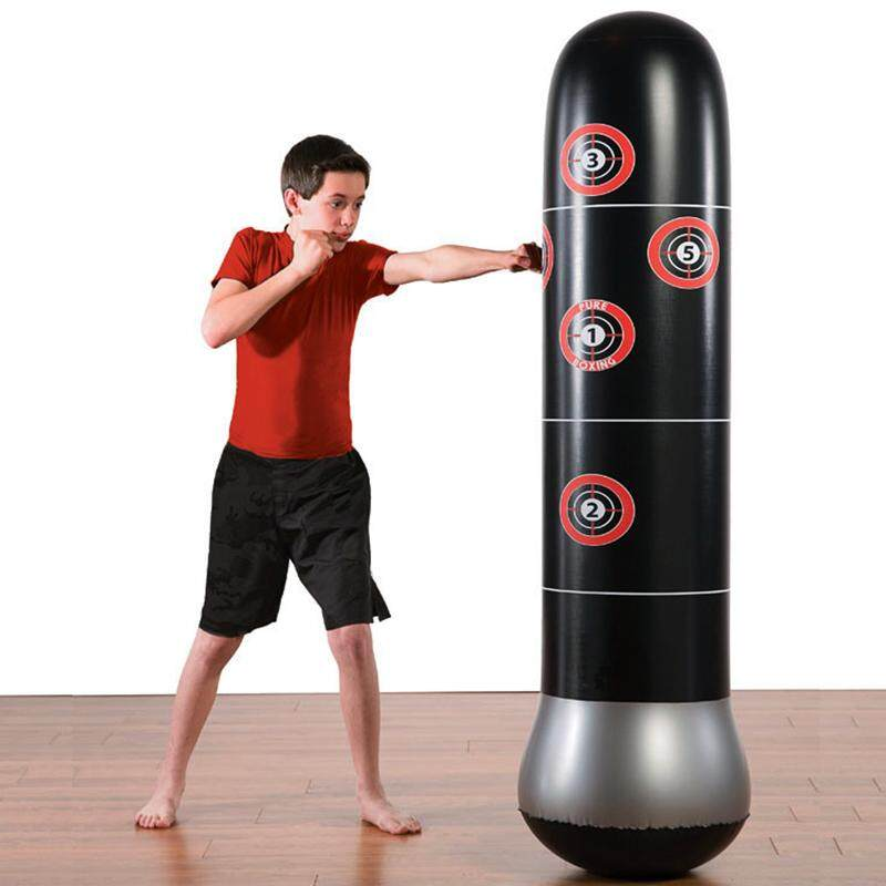 PAlight 1.6m Inflatable Punching Bag Column Stand Fitness Kick Training Boxing Target Bag for Children Adult