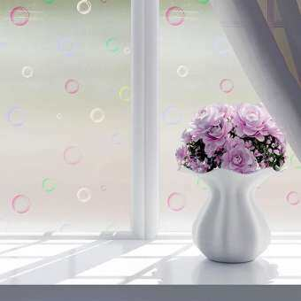 60*200 เซนติเมตรกันน้ำสติ๊กเกอร์ติดกระจก Bath ประตูกระจกฟิล์มหน้าต่างดอกไม้หน้าต่างฟิล์มสติ๊กเกอร์ความเป็นส่วนตัว Home Decor-