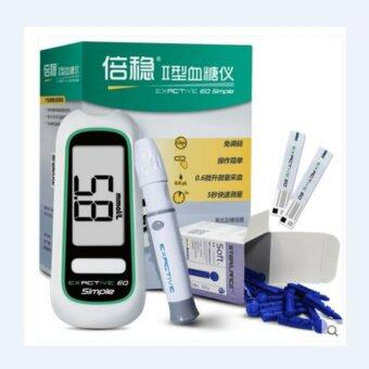 New Arrival Blood Glucose Monitor with 50PCS Strips FREE Alcohol Lancets 50PCS Swabs
