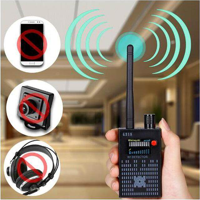 Anti Wireless Camera Detector Gps Mobile Phone Signal Detector Device Tracer Finder 2G 3G 4G Bug Finder Radio Detection - intl
