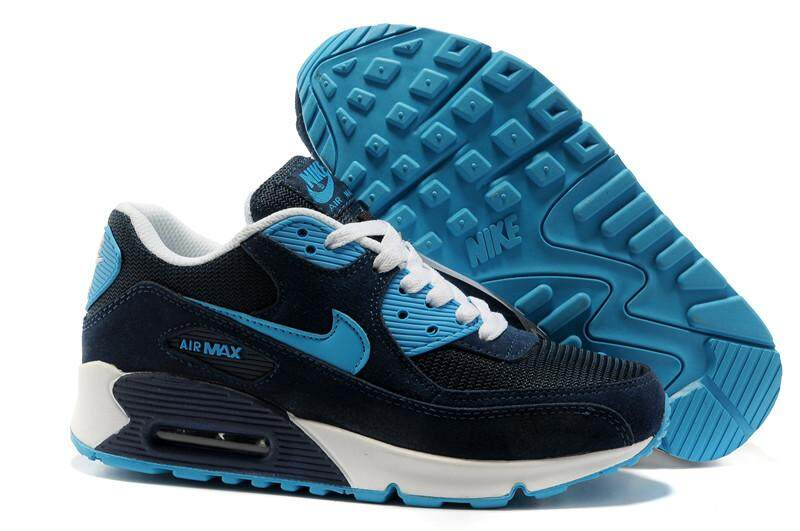 Nike Air Max 90 Essential Men s Running Shoes Fashion Casual Sneakers (Blue) 86f1312937