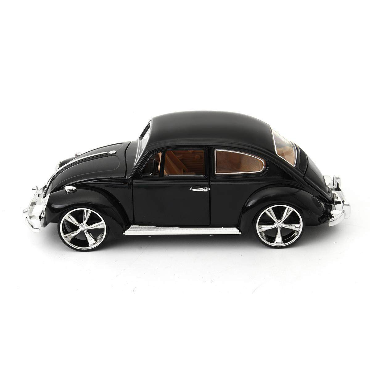 1:18 Black Volkswagen Beetle Superior 1967 Diecast Model Car Toy Gift Collection