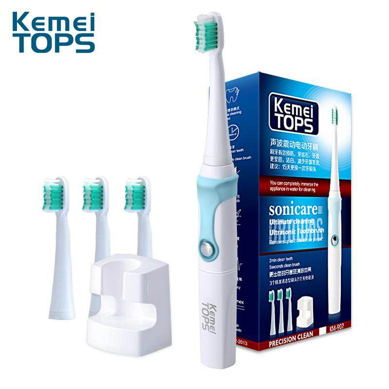 KM-907 360 Degrees Chargeable Electric Toothbrush Ultrasonic Teeth  30000 SEC Professional Teeth Protection a1025f1c3e