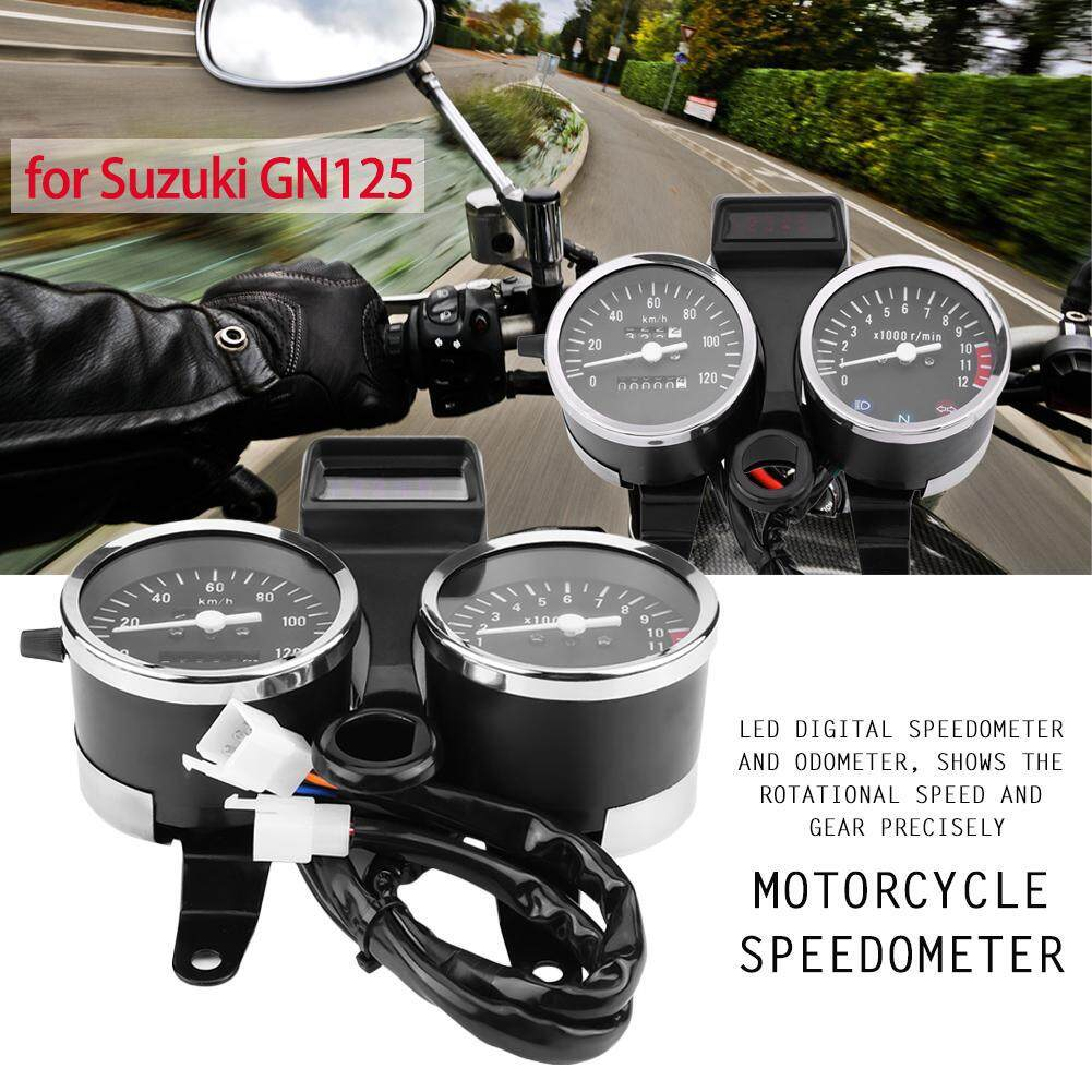perfk ABS 12V Plastic Speedometer Tachometers For SUZUKI GS125