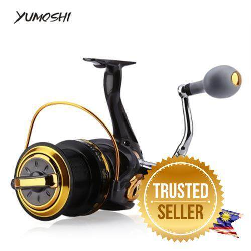 Bambooreka Enterprise Yumoshi 12 + 1 Ball Bearings Aluminum Alloy Spool Coil Wheel Spinning Fishing Reel (Colormix)RM121.85
