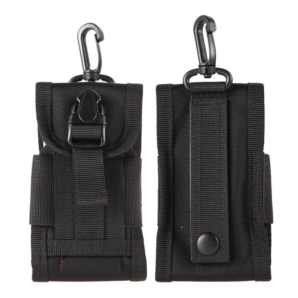 Black Tactical Molle Cell Phone/Iphone Smartphone Velcro Waist Pouch     (Intl)