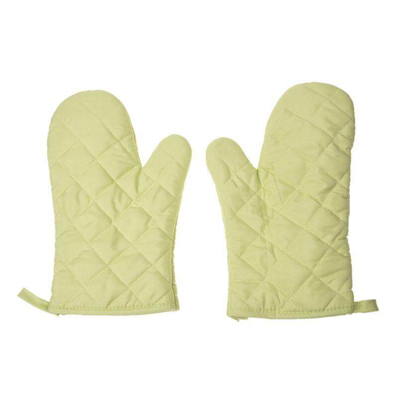 ZB 1 Pair Kitchen Craft Heat Resistant Cotton Oven Glove Pot Holder Baking Cooking Mitts (
