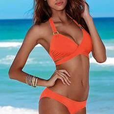 Grand Store Solid Cross Halter Bikini Set – intl