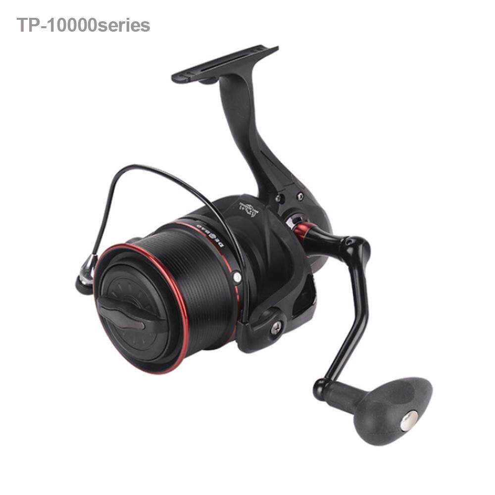 2 Color 2017 New Big Spool 10000 series Long casting Spinning fishing reel 4.1:1 Cat Fishing For carp feeder fishing reel (Neutral,Black) - intl