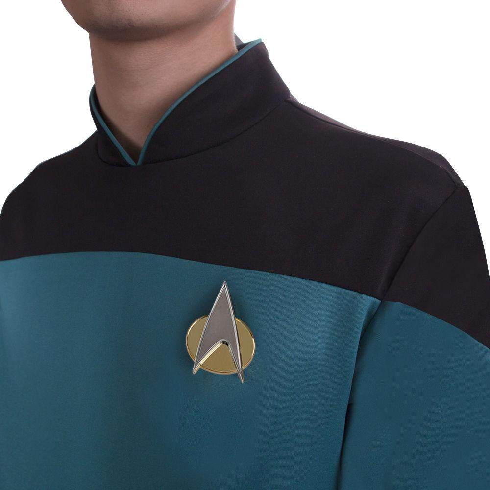 [Cosermart Words】 Star Trek Next Generation Star trektngcosplay Captain Onesie Uniform