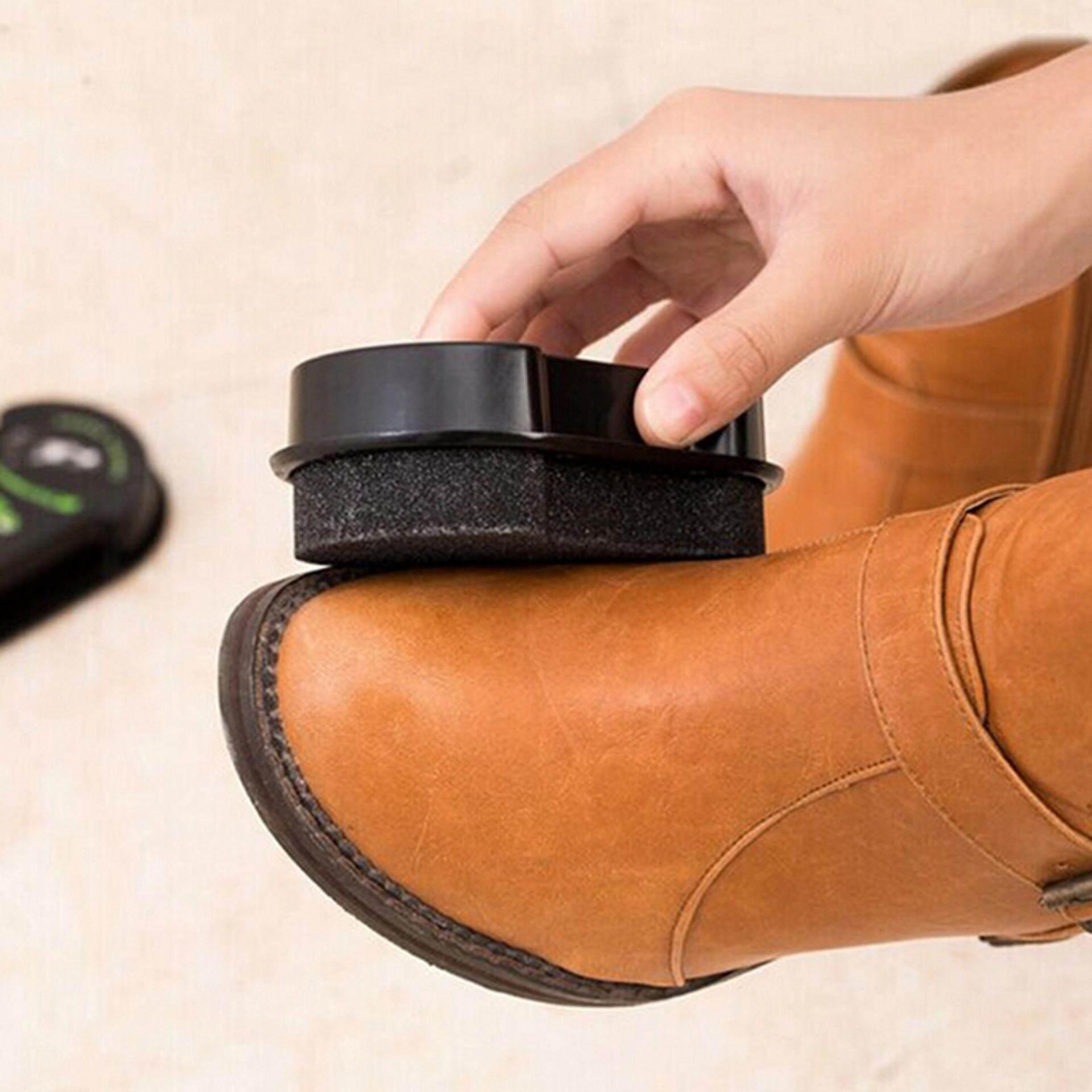 Quick Shine Shoes Shine Sponge Brush Polish Dust Cleaner Cleaning Tool - intl