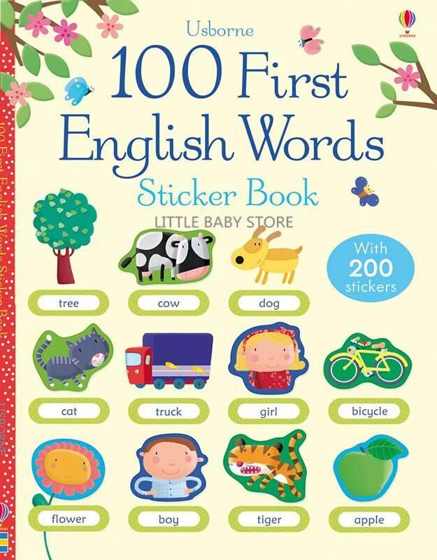 Usborne 100 First English Words Sticker Book Kids Toys