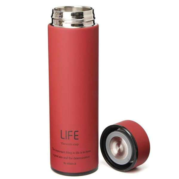 500ML Stainless Steel Tea Water Coffee Flask Vacuum Bottle Thermoses Travel Cup Red ?