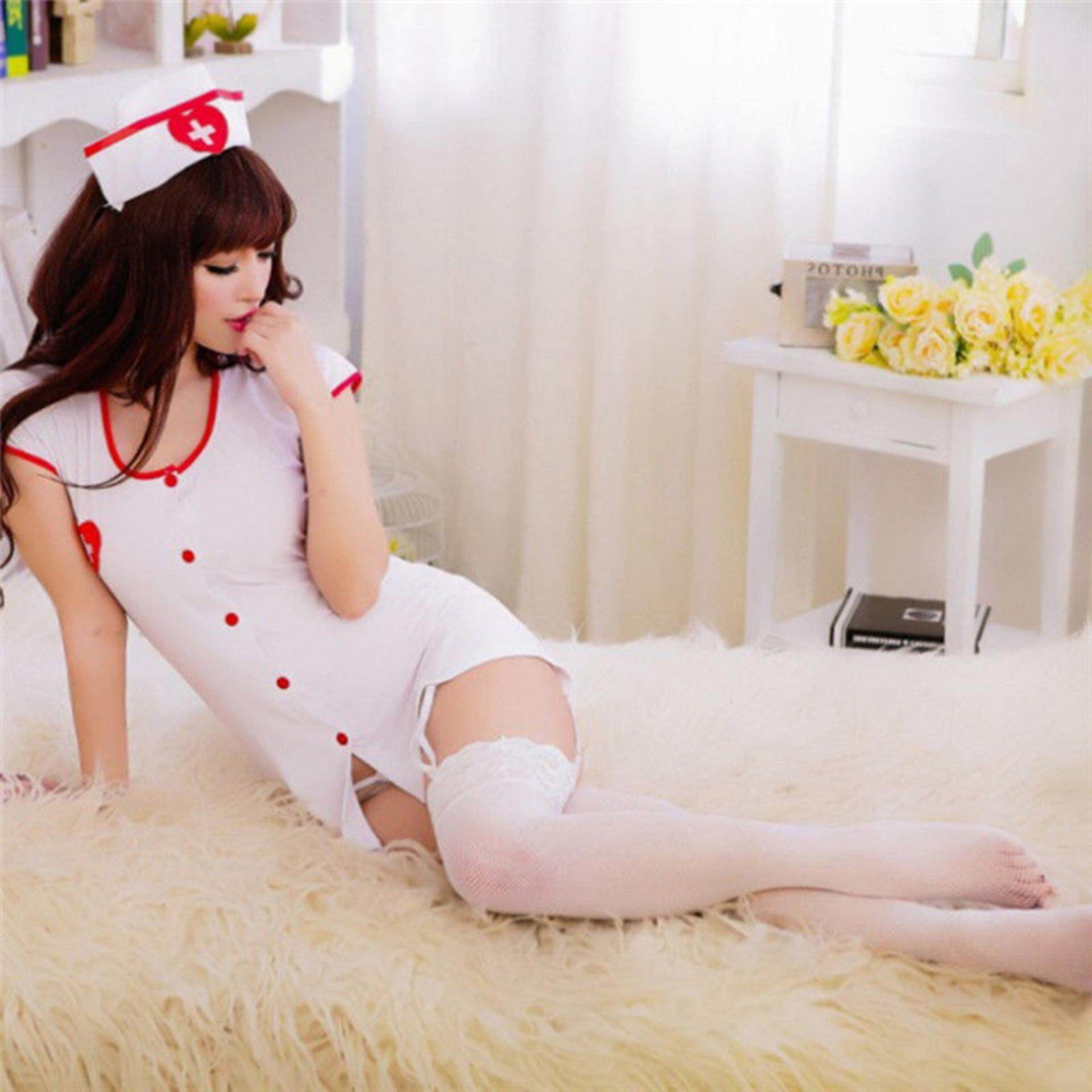 Nurse Fancy Dress Cosplay Club Wear Outfit Costume Sexy Lingerie Adult Women