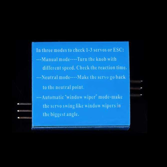 GoSport Đa Servo Bút Thử 3CH ECS Tính Thống Nhất Tốc Độ Controler Điện Kênh CCPM Đo