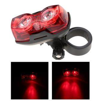 Bright Bike Cycling 2 LED 3 Mode Bicycle OVERSEAS Light Apricot Light Tail Rear Safety Flashing