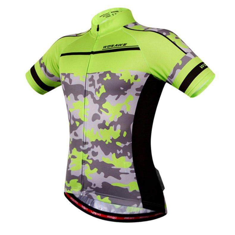 EVOL WOSAWE Quick Dry Bicycle Clothing Riding Cycling Jersey Tops Short Sleeves