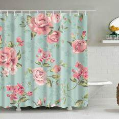 ABH Flower Digital Printing Polyester Shower Curtain (size:S)