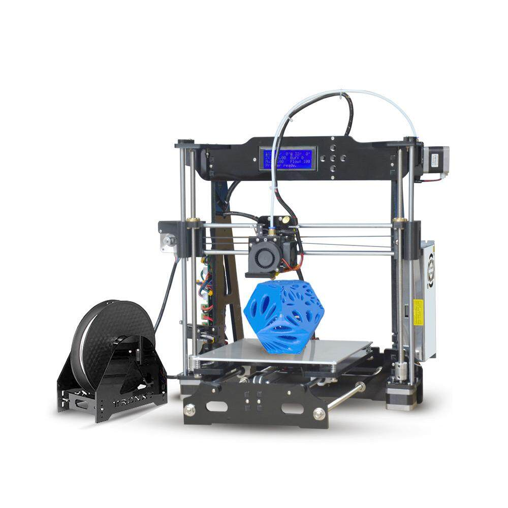 Tronxy Desktop 3D Printer DIY Kit Self Assembly Acrylic Structure with Heatbed TF Card USB Interface Printing Size 220*220*210mm Support PLA/ABS/PVC/PA/PVA/TPU Filament