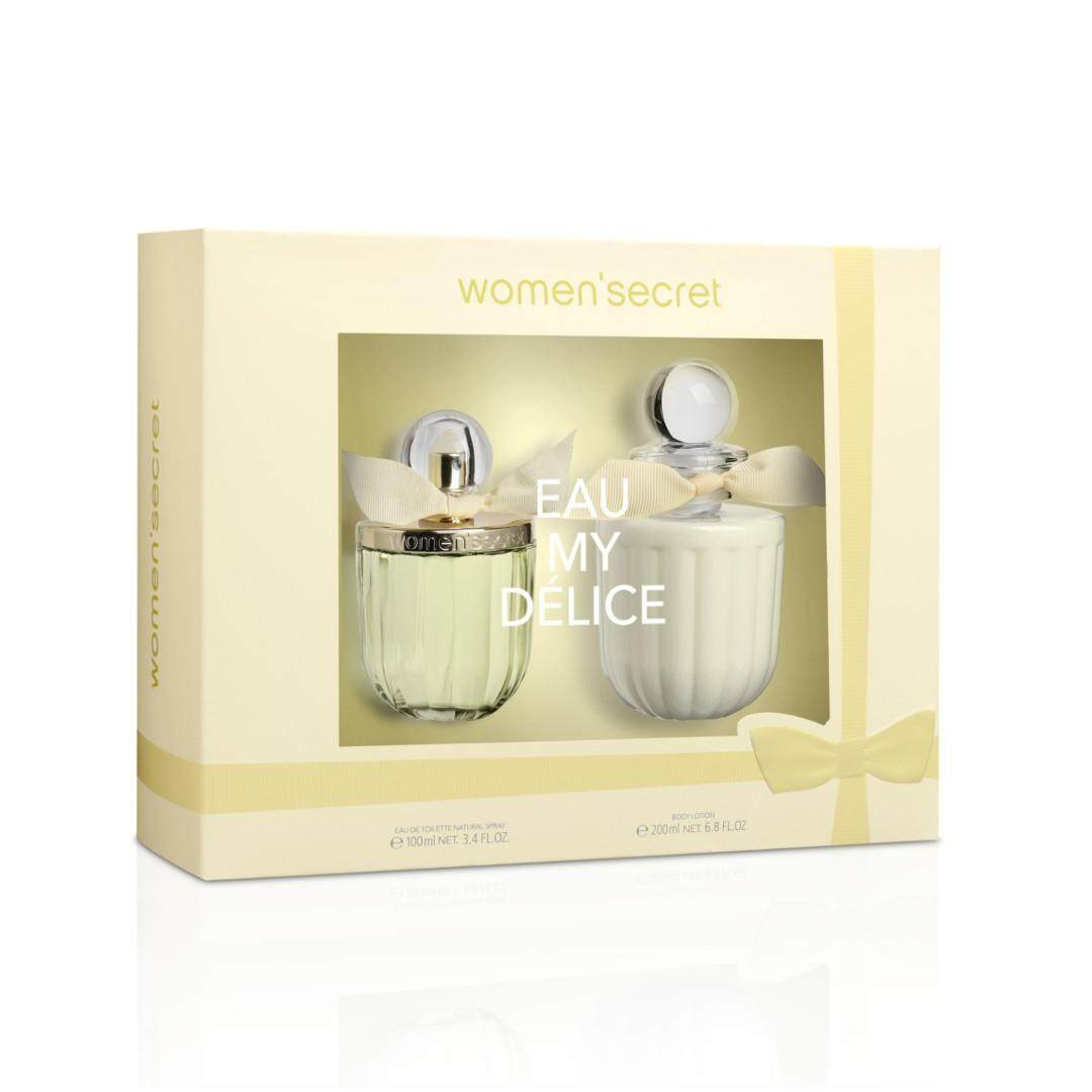 Women'secret Eau My Delice Gift Set Eau De Toilette 100ml + Body Lotion 200ml [YW105] SHINS Perfume Fragrance EDT