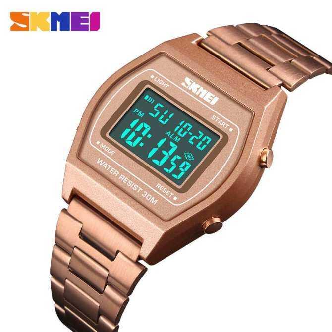 Homester Skmei 1328 Men Fashion Outdoor Sportluxury Digital Watch Stopwatch Alloy Strap Business Work 12/24 Hours rẻ hơn