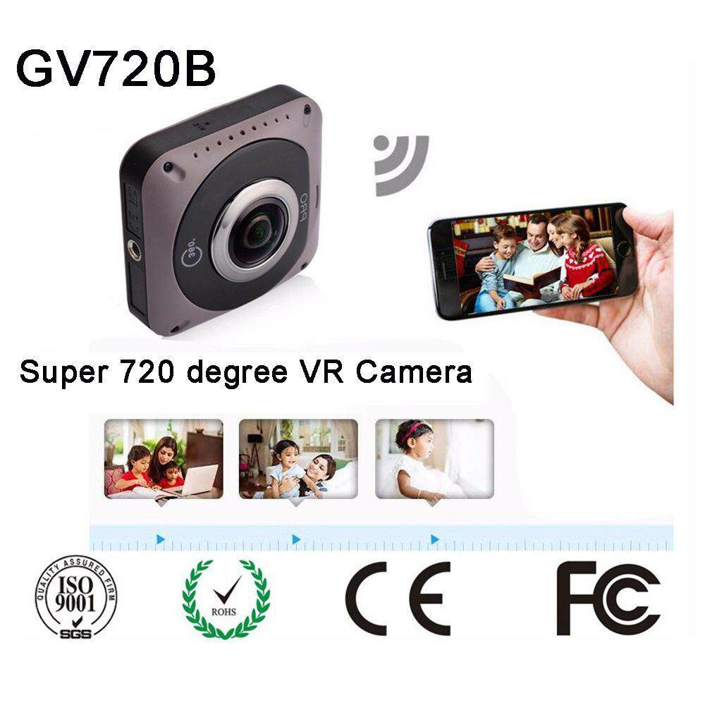 Fuan GV720B Dual-lens 360 Degree Panoramic Camera Digital Video Sports Action VR Mode HD 8MP With 220° Dual Lens Wifi Digital Camera – intl