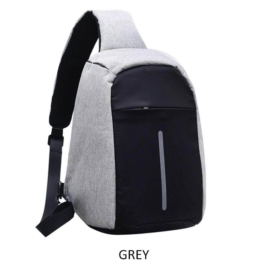 Anti Theft USB Charging Sling Crossbody Bag Anti Theft Backpack (3 Color Option) image on snachetto.com