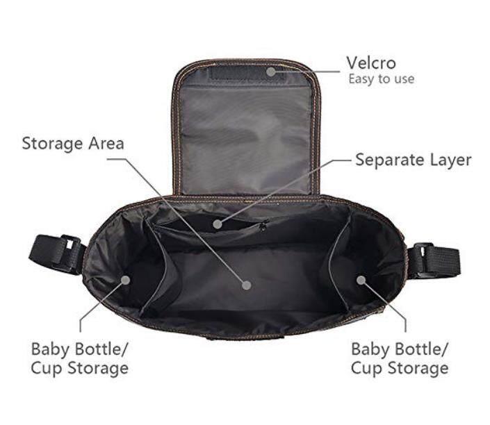 ของแท้ และรับประกัน อุปกรณ์เสริมรถเข็นเด็ก Baby Stroller Bag Organizer Multifunctional Waterproof Mummy Pram Buddy Storage Bag Large Capacity Baby Car Hanging on Stroller Pushchair Holders (Grey) เปรียบเทียบราคาที่ดีที่สุด