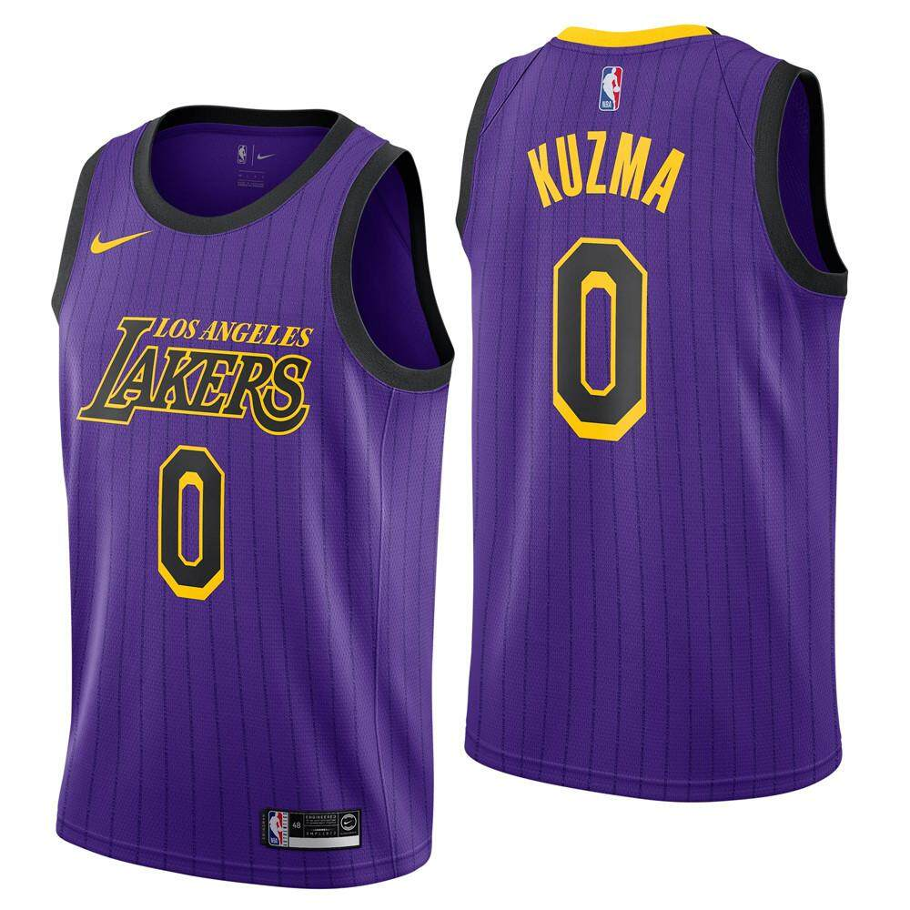 560cab6a5b586 2019 Genuine NBA Basketball Clothes Number 0 Kyle Kuzma Swingman Jersey  Lakers For Man Chase Fashion