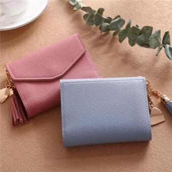6deaf5c262c Women Mini Tassel Wallet Card Holder Clutch Coin Purse Leather Handbag  Purse#light blue
