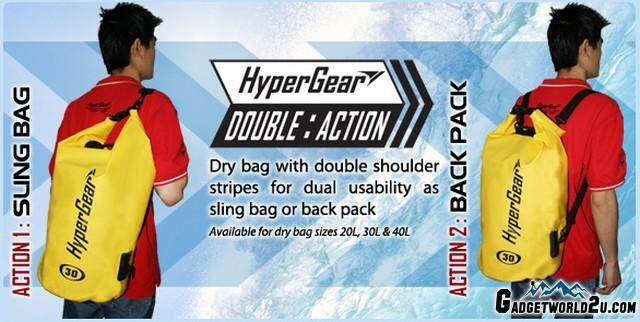 3bf6525889c Hypergear Adventure Dry Bag Water Resistant 20 Liter - Red