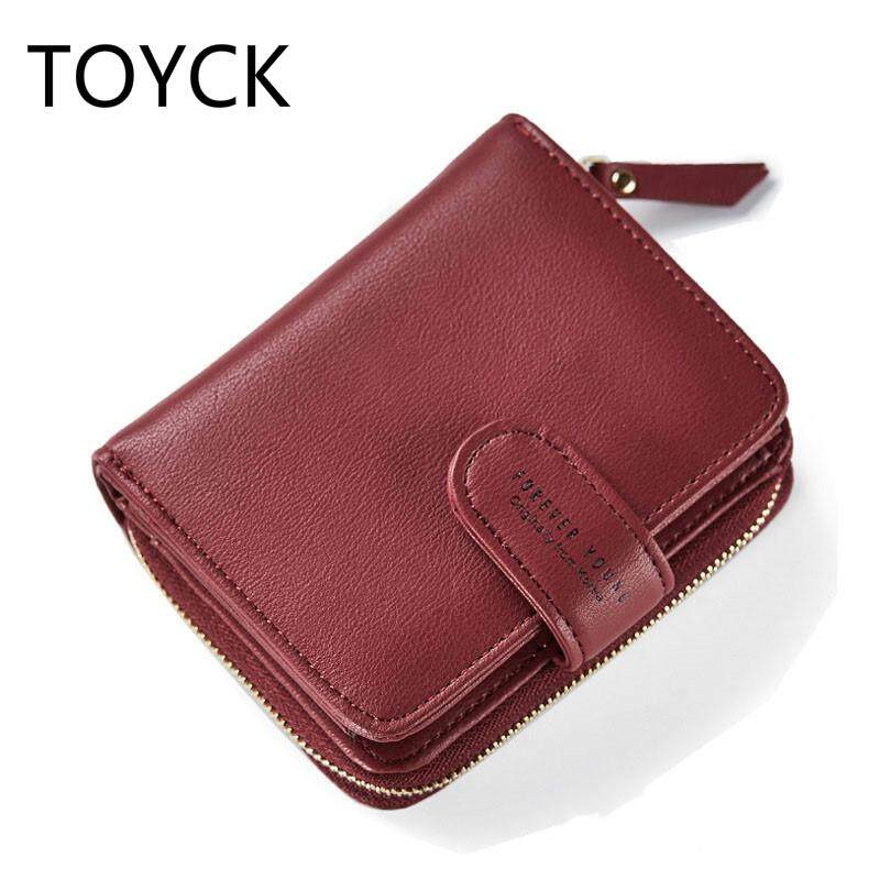 Korean Designer Women Soft Leather Wallets Coin Bag Small Wallet Purse Mini Zipper Hasp Short Lady Purse Card Holder Brand