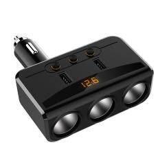 So sánh giá Justgogo 12V-24V Car Charger WIth Power Socket Splitter Adapter 3.1A Dual USB Charger Voltmeter Tại justgogo