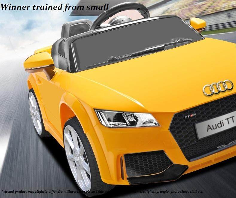 Kids Electric Car Audi Tt Rs Design With Remote Control Kids Ride On Car Battery Operated Electric Car Kereta Elektrik Kanak Kanak Audi Tt Rs Dengan Alat Kawalan Jauh Kereta Elektrik Budak Kereta