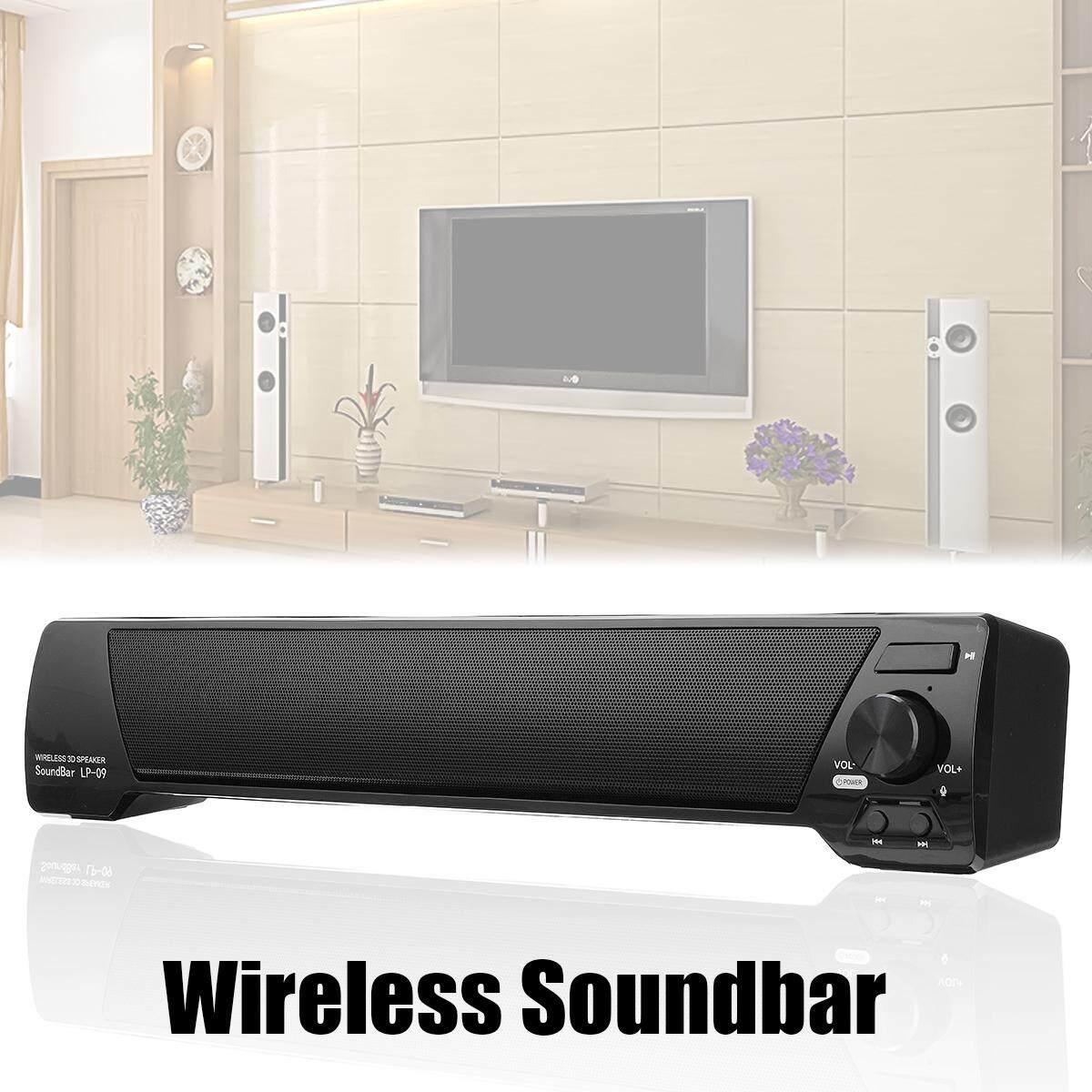 TV Sound Bar Home Theater Subwoofer Soundbar bluetooth Wireless AUX USB Speaker Black/White - intl