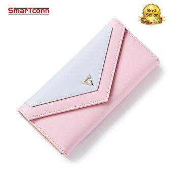 SmarTconn New Geometric Envelope Clutch Wallet For Women, PU Leather Fashion Hasp Wallet Phone Photo Coin Purse