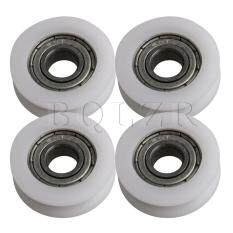 2.1×0.6×0.7cm 696ZZ U-type Groove Guide Pulley Rail Ball Bearing Wheel Set of 4