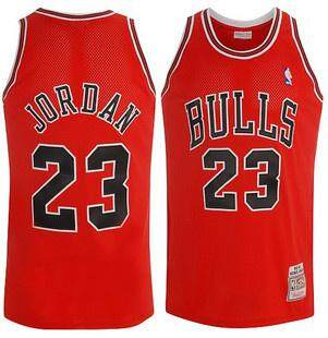 competitive price 4595f 27823 Fashion Nike Official MEN Chicago Bulls Michael Jordan#23 1997-98 Authentic  Red Basketball Jersey Hot