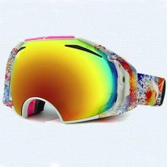 CAMTOA Camouflage spherical ski goggles Double permanent anti-fog mirror Wind Snow Goggles