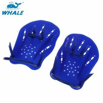 1 Pasang Pengayuh Renang Pelatihan Adjustable Tangan Sarung Tangan Berselaput Padel Alas Kaki Sirip untuk Pria