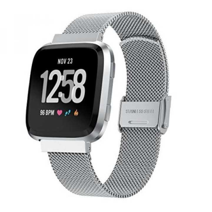 ... Smart Watch Bands YaSpark Fitbit Versa Watch Bands Breathable Milanese Loop Metal Mesh Stainless Steel Accessory