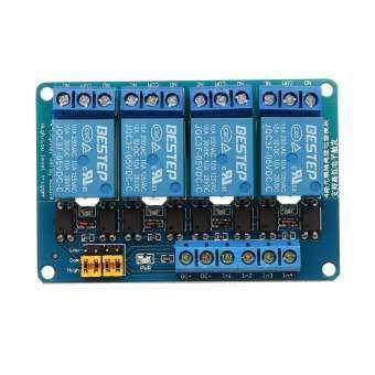BESTEP 4 ช่อง 24 โวลต์รีเลย์โมดูลโมดูลสูงและต่ำระดับ Trigger สำหรับ Arduino-