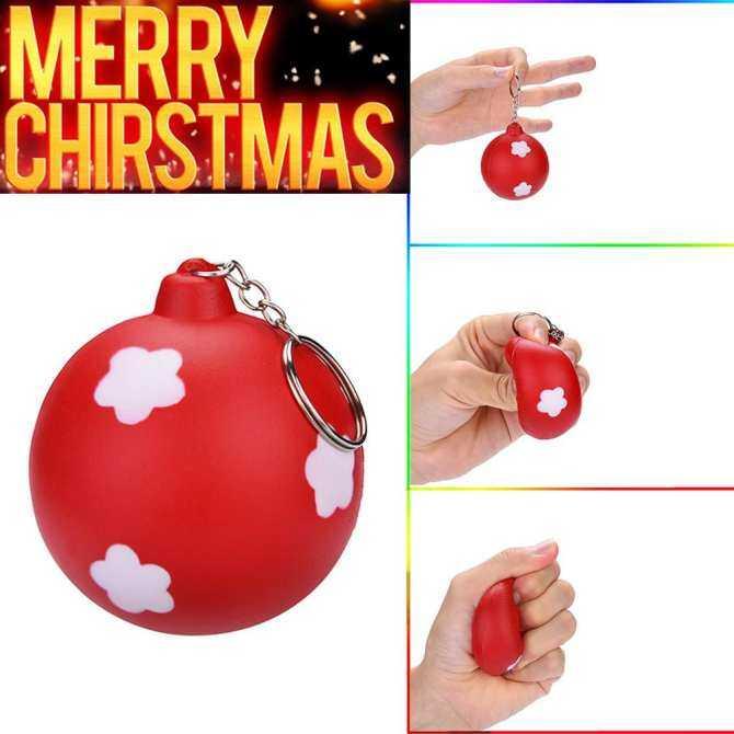 〖Aihid Store〗Christmas Bóng Thơm Squishies Chậm Đồ Chơi Trẻ Em Đồ Chơi Con Đạo Cụ