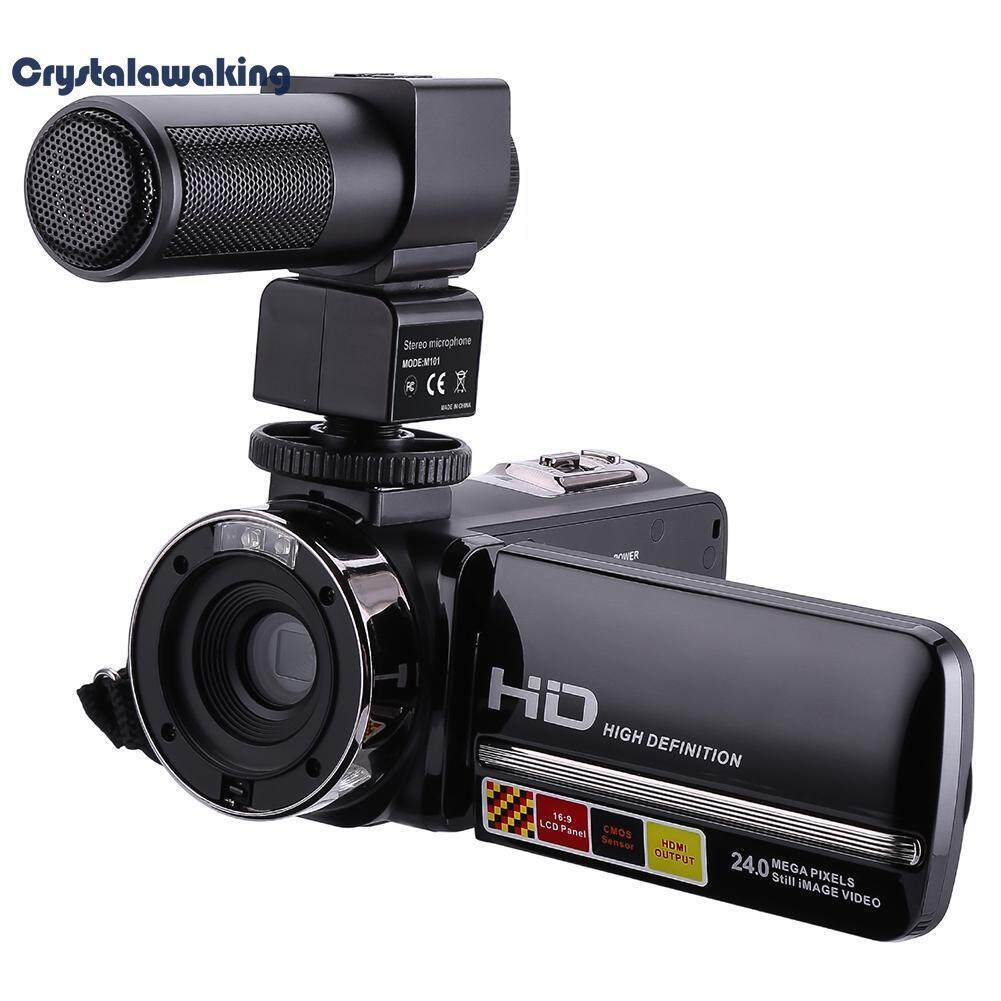 3in LCD Touch Screen Camcorder Remote Control Infrared Night Vision Camera(Black)-EU – intl