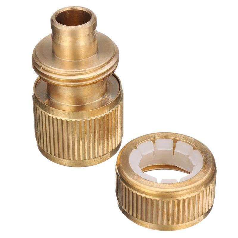 1//2 Inch Brass Water Hose Pipe Connector Quick Hose Coupler with Water Sto NEW