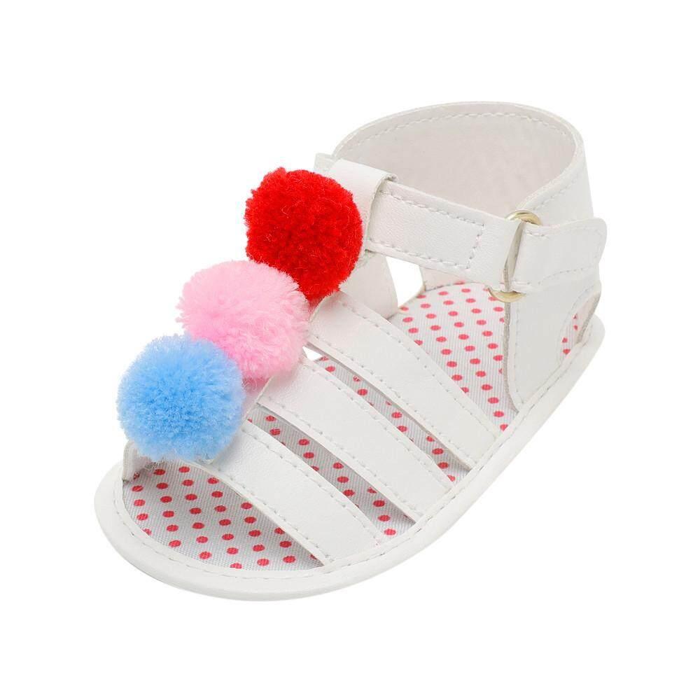 Stonershop Anak Bayi Perempuan Anak Sepatu Bayi Anak Perempuan Tali Bola Sepatu Crib Sol Lembut Anti