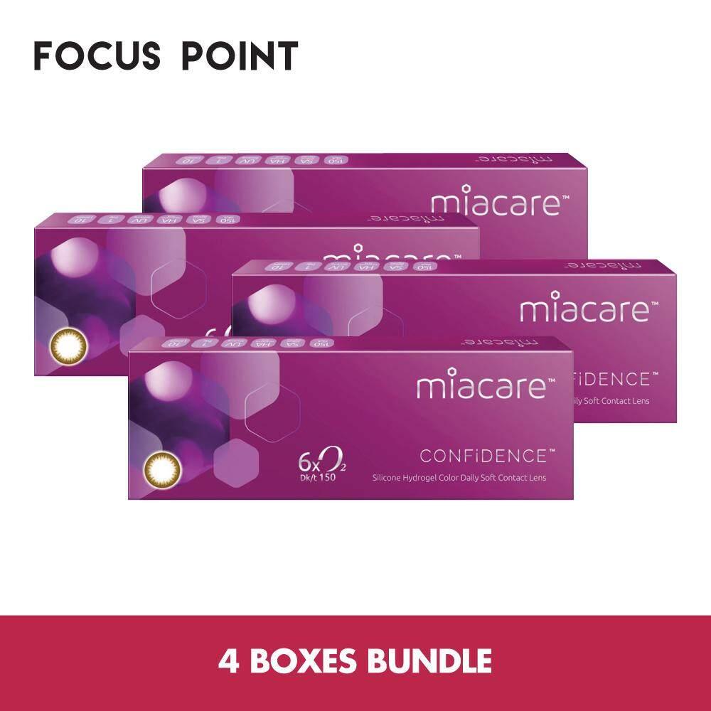 Miacare Confidence Color Daily Contact Lens (10 lenses/box) *4 BOXES BUNDLE*