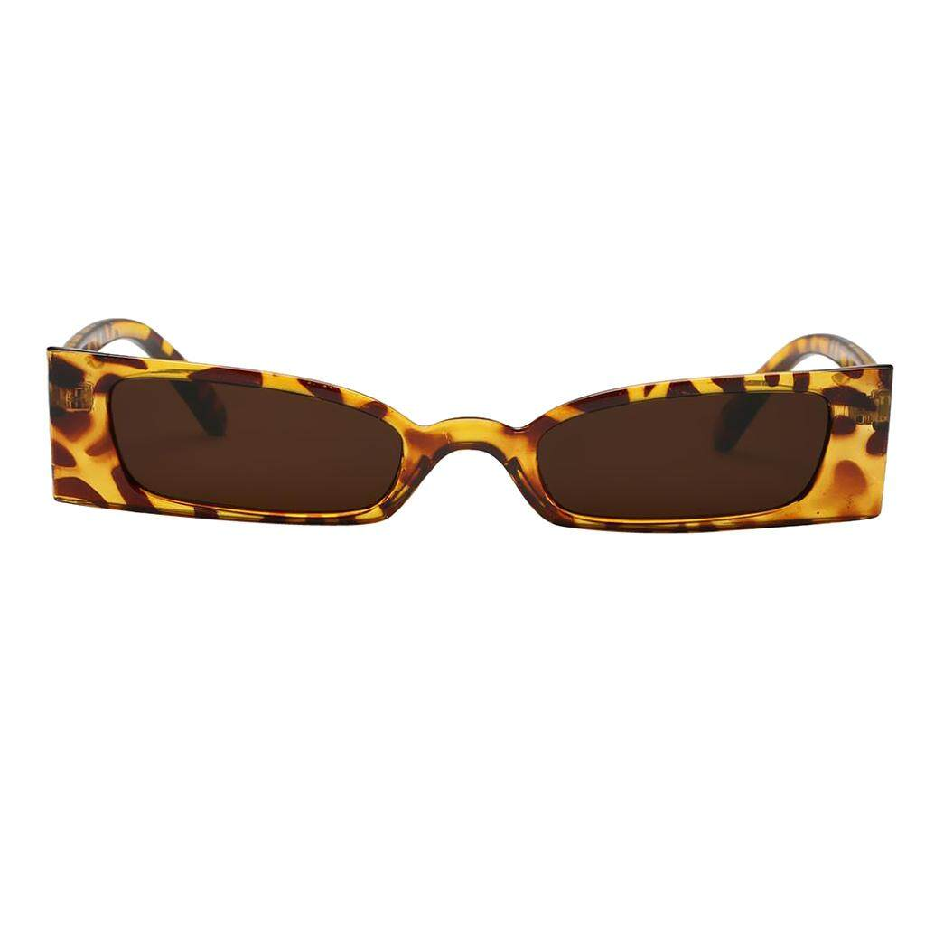 MagiDeal Women Vintage Small Frame UV400 Sunglasses Eyewear Designer Leopard-Coffee