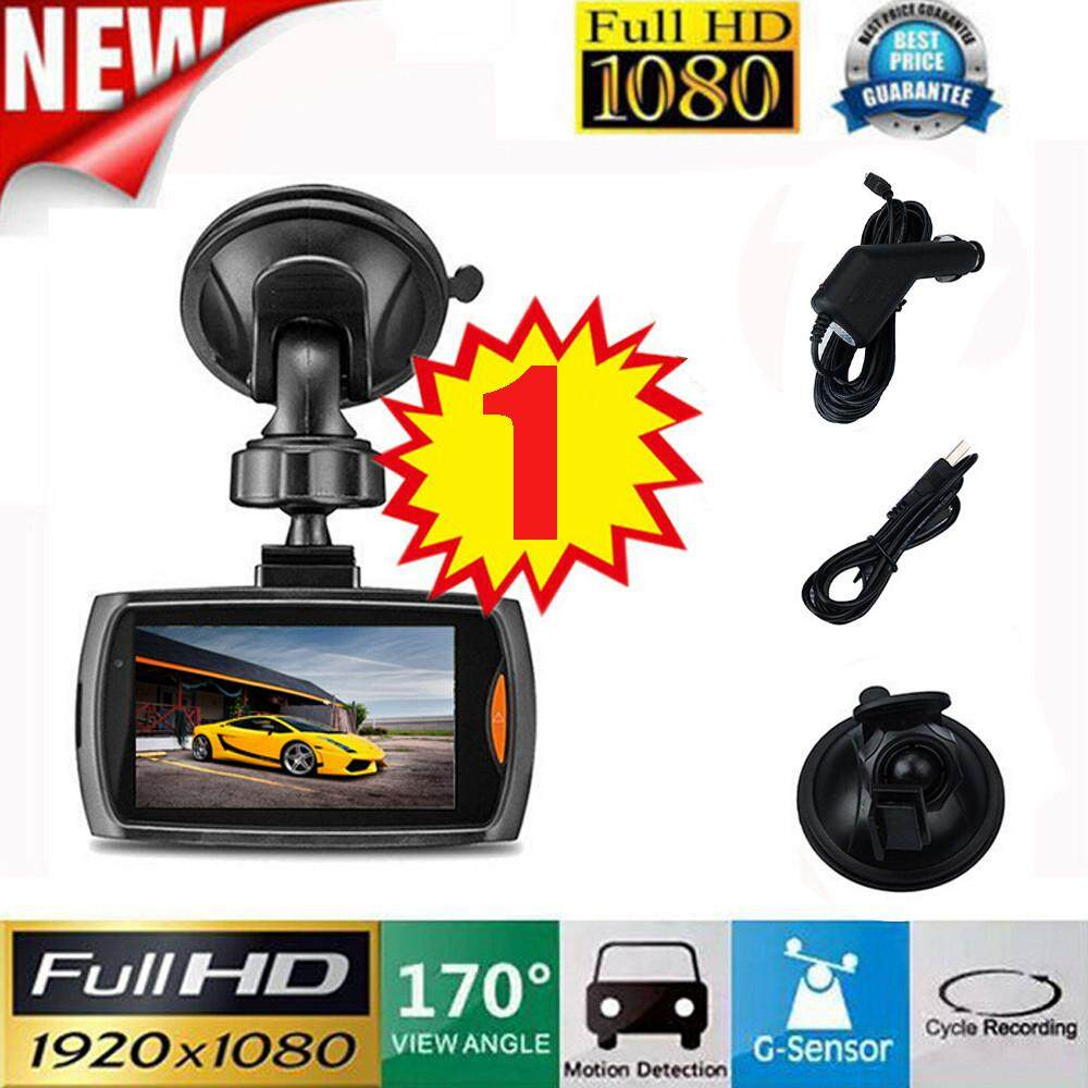 Malloryshop 1x Car 1080P 2.4 Full HD DVR Vehicle Camera Dash Cam Video G-sensor Night Vision - intl